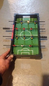 mini black and green wooden foosball table Oakville, L6H
