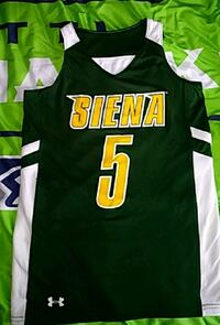Under Armour Siena Saints Basnetball Jershey Schenectady