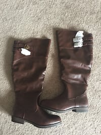 NEW Knee Length Brown Boots Size 9 Edmonton, T6W 3N4