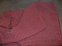 Red checker table cloth Martinsburg
