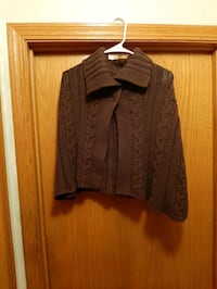 Brown sweater/ throw