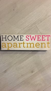 Home Sweet Apartment Sign Reston