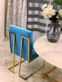 New turquoise and golden legs dining chair Toronto