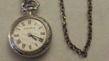 Small Caravelle Pocket Watch w Chain