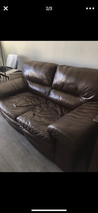 Super comfy authentic leather sofa