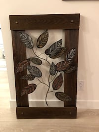 Wood and metal wall decor 24 inches x 39 inches