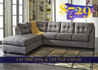 "2pc ""Charcoal"" Sectional—BRAND NEW Suwanee, 30024"