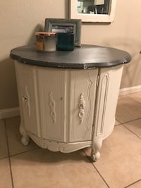 Rustic shabby chic bed night stand table Riverview, 33578