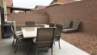 Marble Topped Outdoor Dining Set with 6 chairs Henderson, 89012
