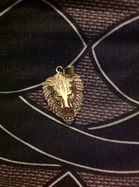 Gold lion pendant. Plated Toronto