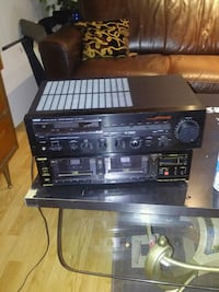 Yamaha and toshiba black and gray stereo component London