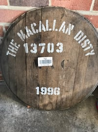 Macallan scotch whiskey barrel lid Springfield, 22152