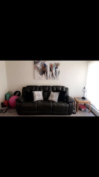 Power Reclining Leather Couch Edmonton, T6G