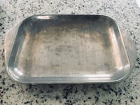 "Nambe 514 Mother's Day Cast Aluminum Serving Tray Casserole Oven to Table Broiler Pan, 16"" x 10.5"".  Ocean"