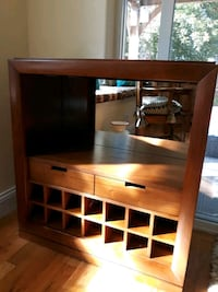Wine cabinet with drawers and glass rack