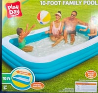 Play day deluxe 10 Foot inflatable Family Swimming Pool Outdoor