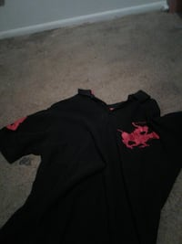black and red U.S. Polo Ass. polo shirt