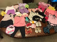 Baby girl clothes shoes bows and more
