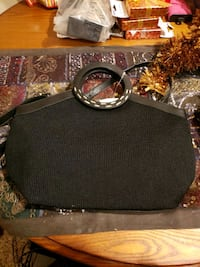 Black Clutch bag with detachable strap Bohemia, 11716