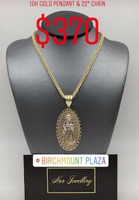 """10k real gold chain and pendant 22"""" long Toronto, M6G"""