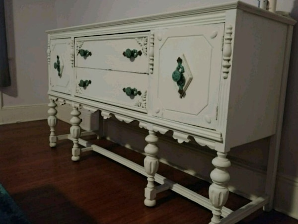 Used Rustic Shabby Chic Buffet Table for sale in Rutherford - letgo