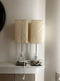 white and gray table lamp Portland, 97229