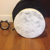 Frame drum tambourine and case