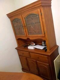 brown wooden framed glass cabinet Socorro, 79927
