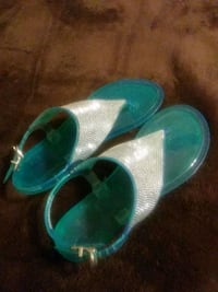 pair of teal-and-white sandals Tucson, 85746