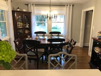 Dining table, 4 chairs and serving table Belmont, 02478