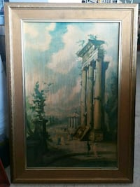 brown wooden framed painting of house Welland, L3B 5N5