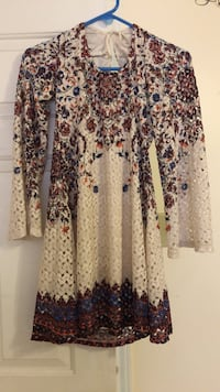 white and blue floral long-sleeved shirt Laredo, 78041