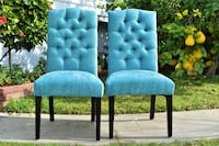 Light teal fabric dining chairs ( set of 2) West Covina, 91790