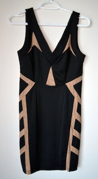 New Mendocino black party dress w beige cutouts Toronto