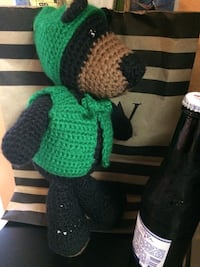 green and black knitted plush toy Humble, 77346