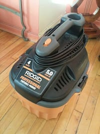 orange and black Ridgid portable generator