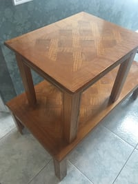 rectangular brown wooden coffee table Brampton, L6R 1L7