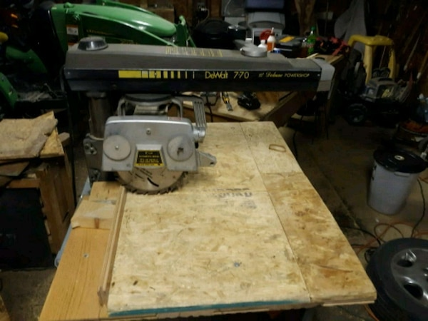 Ongebruikt Used Radial arm saw DeWALT 770 DELUXE POWERSHOP for sale in GQ-86