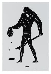 Cleon Peterson Headless Man Print Black And White Edition Of 125