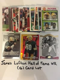 James Lofton Stanford Cardinal Green Bay Packers Buffalo Bills Hall of Fame WR. (16) Card Lot   San Jose, 95148