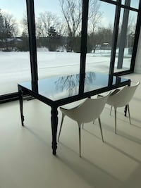 Black modern classic dining table