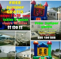 Party canopy play town party rentals  Long Beach, 90807