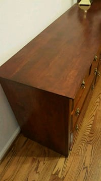 brown wooden single-drawer side table 1207 mi