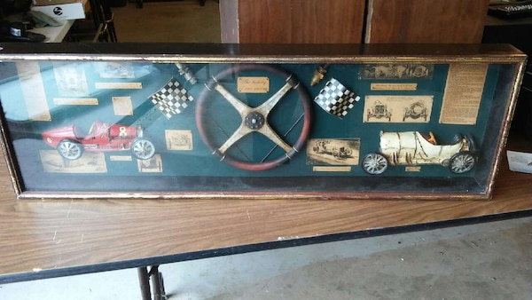 the history of car racing shadow box