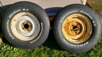 2x  [TL_HIDDEN]  BFG TRAILER Rims/TIRES