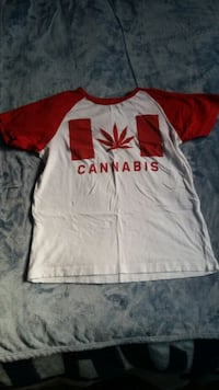 Cannabis/ Pot Leaf Canada Flag T-shirt Waterloo, N2K 4G6