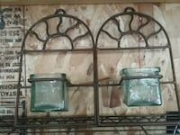 Iron wall sconces with candle holders