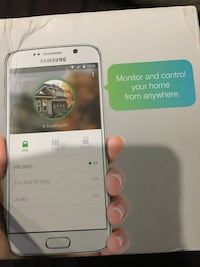 White samsung security system