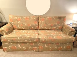 Green/Pink Floral Loveseat Sofa- Negotiable Price
