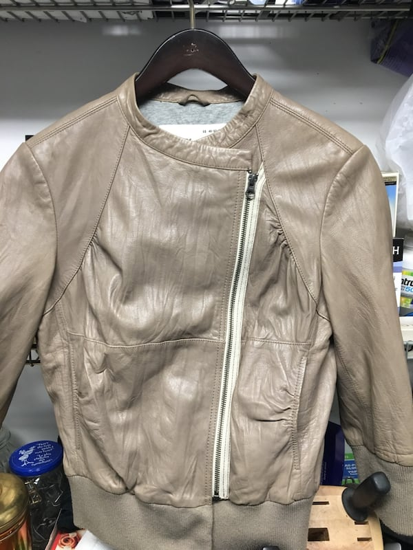 Ever womens lambskin leather jacket 0